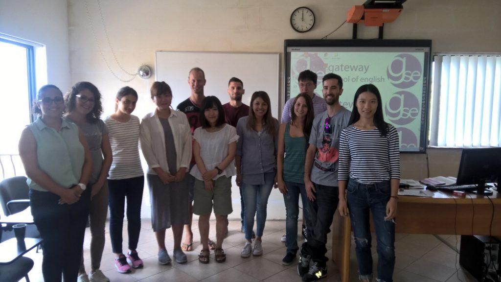 Gateway School of English GSE Malta studenti provenienti da Brasile, Turchia, Cina, Italia, Russia, Taiwan, Giappone e Spagna
